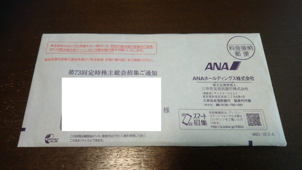 2018年6月8日(金)に郵便で到着